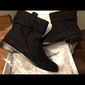 NIB Style & Co Black suede boots